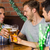 heureux · amis · bière · jour · bar - photo stock © wavebreak_media