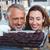 mutlu · çift · bakıyor · kekler · fırın · depolamak - stok fotoğraf © wavebreak_media
