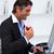 幸せ · ビジネスマン · 食べ · 赤いリンゴ · デスク · 作業 - ストックフォト © wavebreak_media