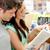 красивой · пару · студентов · чтение · книга · книжный · магазин - Сток-фото © wavebreak_media