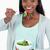 happy smiling woman eating salad against a white background stock photo © wavebreak_media