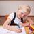 портрет · девушки · рисунок · классе · школы · ребенка - Сток-фото © wavebreak_media