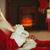 Дед · Мороз · расслабляющая · диване · домой · гостиной · дома - Сток-фото © wavebreak_media