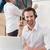entrepôt · gestionnaire · casque · homme · heureux - photo stock © wavebreak_media