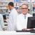fókuszált · gyógyszerész · számítógéphasználat · kórház · gyógyszertár · orvosi - stock fotó © wavebreak_media