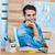 portre · mutlu · genç · iş · adamı · dizüstü · bilgisayar · kullanıyorsanız · dünya · haritası - stok fotoğraf © wavebreak_media