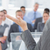 успешный · речи · вверх · деловые · люди · оратора - Сток-фото © wavebreak_media