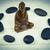 buddha statue with stone circle stock photo © wavebreak_media