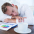 疲れ果てた · ビジネスマン · 寝 · デスク · オフィス · ビジネス - ストックフォト © wavebreak_media