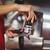 barista · kisajtolás · kávéfőző · közelkép · kilátás · fókuszált - stock fotó © wavebreak_media
