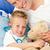 bonito · pai · doente · filho · jogar · estetoscópio - foto stock © wavebreak_media