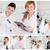 kolaż · dwa · kobiet · naukowcy · laboratorium · kobieta - zdjęcia stock © wavebreak_media