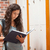 student · lezing · boek · gang · vrouw · school - stockfoto © wavebreak_media