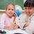 школьницы · рисунок · глядя · камеры · классе · девушки - Сток-фото © wavebreak_media