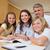pais · ajuda · crianças · lição · de · casa · jovem · família - foto stock © wavebreak_media