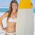 sorridere · tavola · da · surf · spiaggia · vacanze · surf - foto d'archivio © wavebreak_media