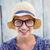 portre · sarışın · kadın · gözlük · genç - stok fotoğraf © wavebreak_media