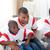 glückliche · Familie · beobachten · Fußball · Spiel · home · Frau - stock foto © wavebreak_media
