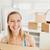 mulher · caixas · em · movimento · sorrir · feliz - foto stock © wavebreak_media