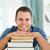 glimlachend · mannelijke · student · boeken · glimlach · gezicht - stockfoto © wavebreak_media