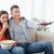 Paar · Sitzung · Couch · zusammen · ansehen - stock foto © wavebreak_media