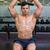 Muscular man exercising with dumbbells in gym stock photo © wavebreak_media