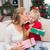 lány · karácsonyfa · haj · divat · lövés · szőke - stock fotó © wavebreak_media