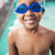 kicsi · fiú · úszómedence · védőszemüveg · kék · portré - stock fotó © wavebreak_media
