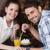 cute · couple · date · café · fille · heureux - photo stock © wavebreak_media
