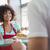 かなり · 雇用者 · 幸せ · 女性実業家 · 見える · カメラ - ストックフォト © wavebreak_media