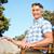 portret · dojrzały · mężczyzna · relaks · trawy · człowiek - zdjęcia stock © wavebreak_media