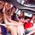 happy friends drinking cocktails in limousine stock photo © wavebreak_media