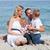 sevimli · çocuklar · ebeveyn · oturma · kum · plaj - stok fotoğraf © wavebreak_media