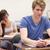 jungen · Studenten · Test · Klassenzimmer · Frau · glücklich - stock foto © wavebreak_media