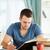 mannelijke · student · werken · materieel · papier · school - stockfoto © wavebreak_media