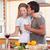 çift · içme · öpüşme · mutfak · ev - stok fotoğraf © wavebreak_media