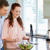 Couple with bowl of healthy salad in the kitchen stock photo © wavebreak_media