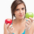 sério · adolescente · verde · maçã · vermelho - foto stock © wavebreak_media