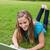 uśmiechnięty · student · wpisując · laptop · trawy - zdjęcia stock © wavebreak_media