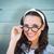 composite image of smiling brunette stock photo © wavebreak_media