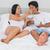 gelukkig · paar · liefde · romantische · ontbijt · bed - stockfoto © wavebreak_media