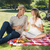 bonitinho · casal · potável · vinho · branco · piquenique - foto stock © wavebreak_media