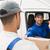 Delivery driver handing parcel to customer in his van stock photo © wavebreak_media