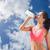 соответствовать · брюнетка · питьевой · спортивных · бутылку - Сток-фото © wavebreak_media