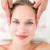 pretty blonde receiving head massage stock photo © wavebreak_media