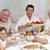 nonni · genitori · bambini · famiglia · cena · home - foto d'archivio © wavebreak_media
