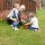 sorrindo · dois · crianças · jardim · planta · flores - foto stock © wavebreak_media