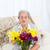 Senior · Blumen · home · Frau · Gesicht · Schönheit - stock foto © wavebreak_media