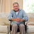 Senior man in his wheelchair at home stock photo © wavebreak_media