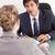 ciddi · müdür · görüşme · ofis · mutlu · işadamı - stok fotoğraf © wavebreak_media